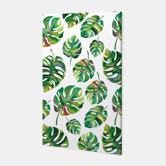 Thumbnail image of Tropical leaves Canvas, Live Heroes