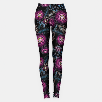 Miniature de image de Watercolor floral pattern Leggings, Live Heroes