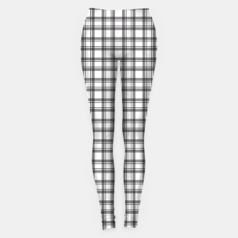 Miniature de image de Black and white checkered plaid pattern Leggings, Live Heroes