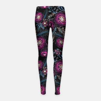 Thumbnail image of Watercolor floral pattern Girl's Leggings, Live Heroes