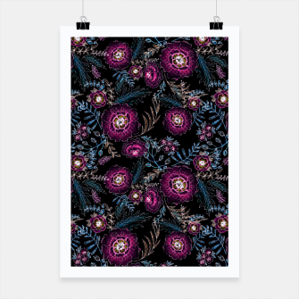 Thumbnail image of Watercolor floral pattern Poster, Live Heroes