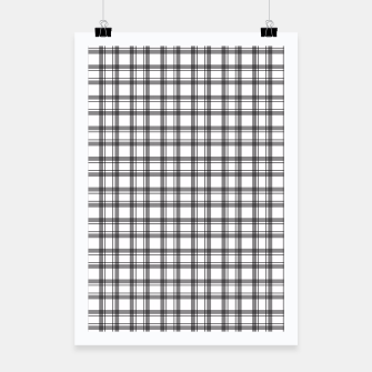 Miniaturka Black and white checkered plaid pattern Poster, Live Heroes