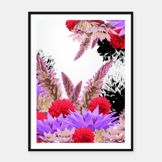 Thumbnail image of ZF - FLORAL GARDEN Framed poster, Live Heroes