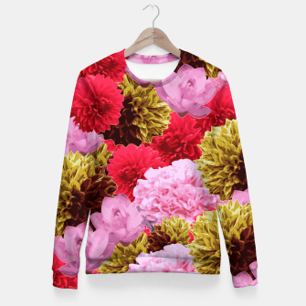 Miniature de image de ZF - FLORAL COLLAGE Fitted Waist Sweater, Live Heroes