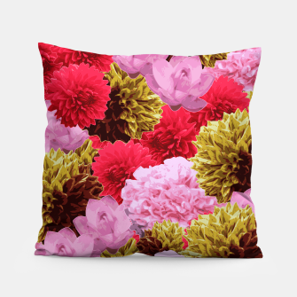 Thumbnail image of ZF - FLORAL COLLAGE Pillow, Live Heroes