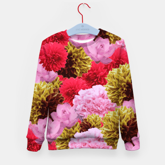 Thumbnail image of ZF - FLORAL COLLAGE Kid's Sweater, Live Heroes