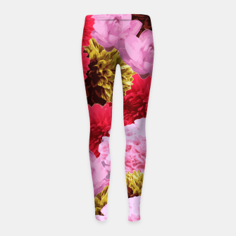 Thumbnail image of ZF - FLORAL COLLAGE Girl's Leggings, Live Heroes