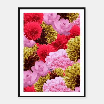 Thumbnail image of ZF - FLORAL COLLAGE Framed poster, Live Heroes