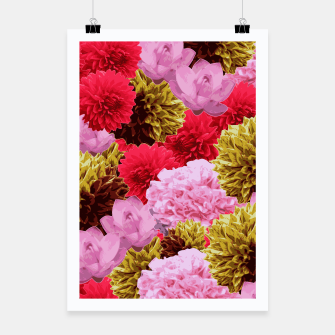Thumbnail image of ZF - FLORAL COLLAGE Poster, Live Heroes