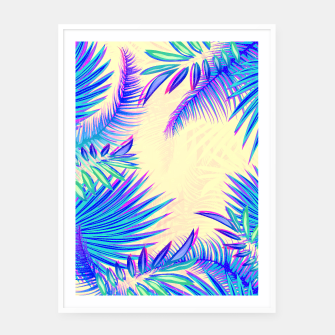 Thumbnail image of Tropical Framed poster, Live Heroes