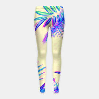 Thumbnail image of Tropical Girl's Leggings, Live Heroes