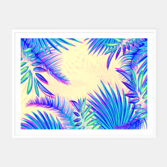 Miniatur Tropical Framed poster, Live Heroes