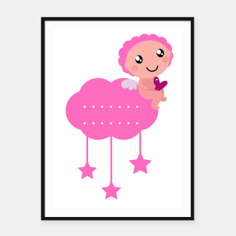 Thumbnail image of Framed poster with LITTLE PINK ANGEL, Live Heroes