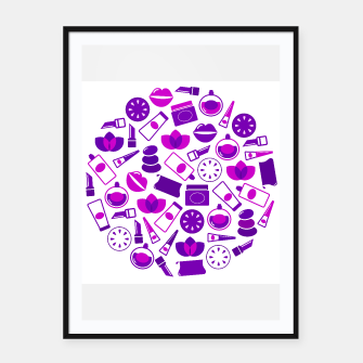 Thumbnail image of Framed poster with Purple cosmetic Circle, Live Heroes