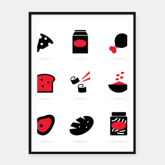 Thumbnail image of SUSHI RESTAURANT POSTER Black Red, Live Heroes
