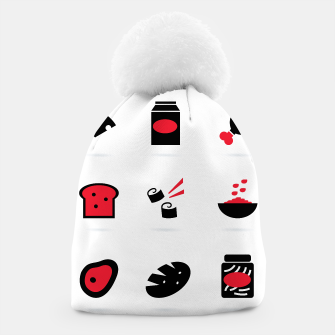 Thumbnail image of Sushi Pub vintage Beanie : RED BLACK ON WHITE, Live Heroes