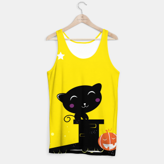 Thumbnail image of Creative Tank Top with BLACK CUTE CAT, Live Heroes