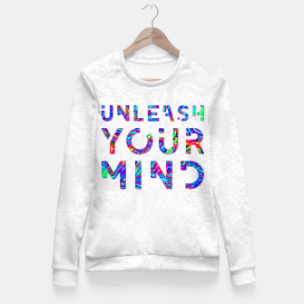 Thumbnail image of Unleash Your Mind Fitted Waist Sweater, Live Heroes