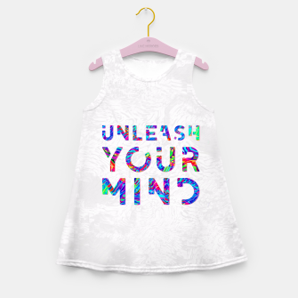 Thumbnail image of Unleash Your Mind Girl's Summer Dress, Live Heroes