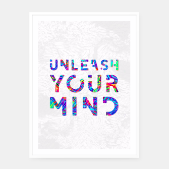 Thumbnail image of Unleash Your Mind Framed poster, Live Heroes