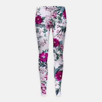 Thumbnail image of White Spring Girl's Leggings, Live Heroes