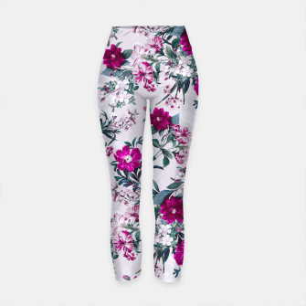 Thumbnail image of White Spring Yoga Pants, Live Heroes