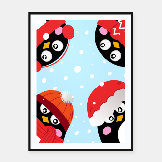 Thumbnail image of Kids artistic Painted Poster with PENGUINS, Live Heroes