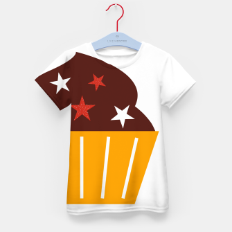 Miniatur Kids designers T-Shirt with BIG MUFFIN, Live Heroes