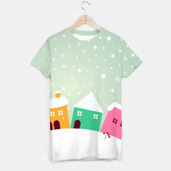 Miniaturka Ladies artistic T-Shirt with VINTAGE HOMES, Live Heroes