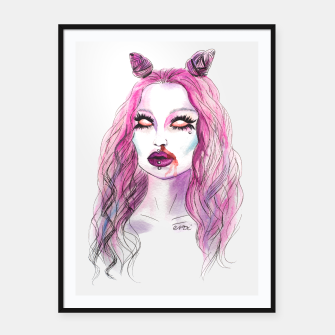 Thumbnail image of Cotton candy Framed poster, Live Heroes
