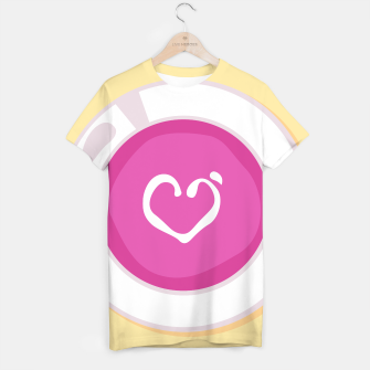 Thumbnail image of Creative t-shirt : LOVE SOUP pink white, Live Heroes