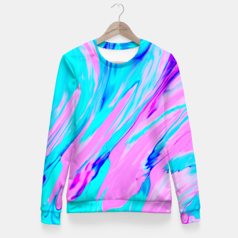 Miniature de image de Pink-Blue Liquid Fitted Waist Sweater, Live Heroes