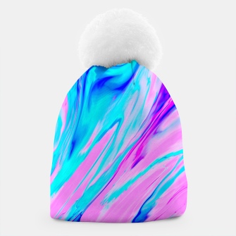 Thumbnail image of Pink-Blue Liquid Beanie, Live Heroes