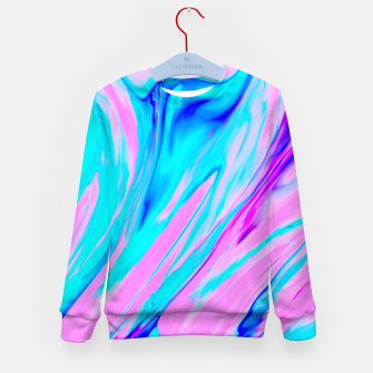 Thumbnail image of Pink-Blue Liquid Kid's Sweater, Live Heroes