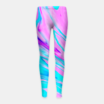 Thumbnail image of Pink-Blue Liquid Girl's Leggings, Live Heroes