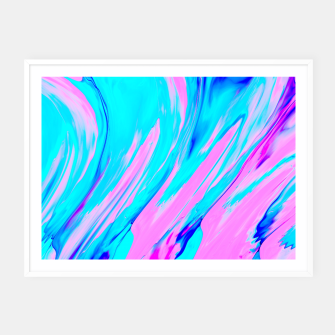 Thumbnail image of Pink-Blue Liquid Framed poster, Live Heroes