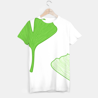 Thumbnail image of CREATIVE T-SHIRT WITH GINGKO LEAVES GREEN, Live Heroes