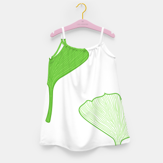 Thumbnail image of Amazing Girls Dress with Gingko green on white, Live Heroes