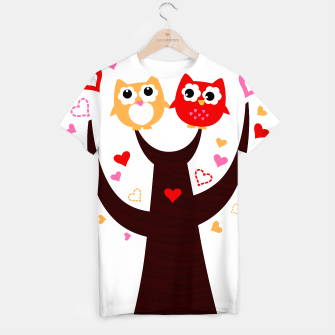 Thumbnail image of Creative ladies T-Shirt with Cartoon Owls, Live Heroes