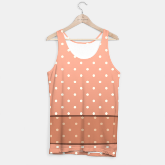 Thumbnail image of Tank top with Brown background with Dots white, Live Heroes