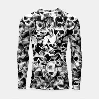 Thumbnail image of Skulls Abstraction Attraction 3 Longsleeve Rashguard , Live Heroes