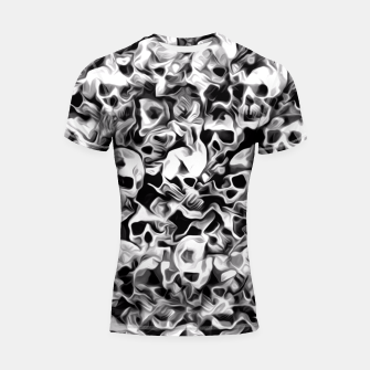 Thumbnail image of Skulls Abstraction Attraction 3 Shortsleeve Rashguard, Live Heroes