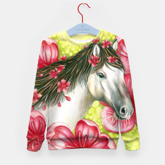 Thumbnail image of Summer Horse Kid's Sweater, Live Heroes