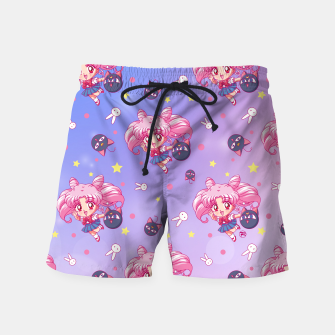 Thumbnail image of Sailor Moon Chibiusa Pattern Swim Shorts, Live Heroes