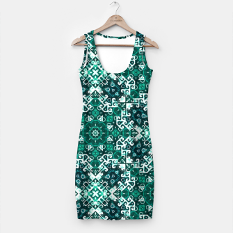Miniature de image de Bohemian Aqua Green Fancy Pattern Simple Dress, Live Heroes