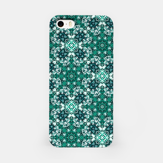 Thumbnail image of Bohemian Aqua Green Fancy Pattern iPhone Case, Live Heroes