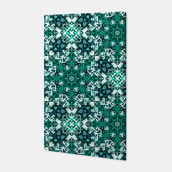 Thumbnail image of Bohemian Aqua Green Fancy Pattern Canvas, Live Heroes