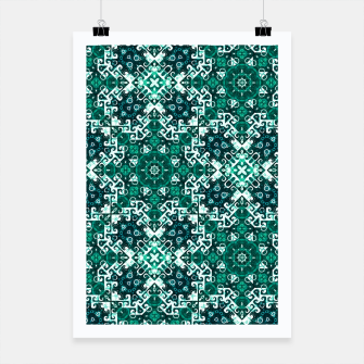Thumbnail image of Bohemian Aqua Green Fancy Pattern Poster, Live Heroes
