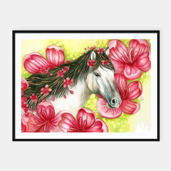 Thumbnail image of Summer Horse Framed poster, Live Heroes