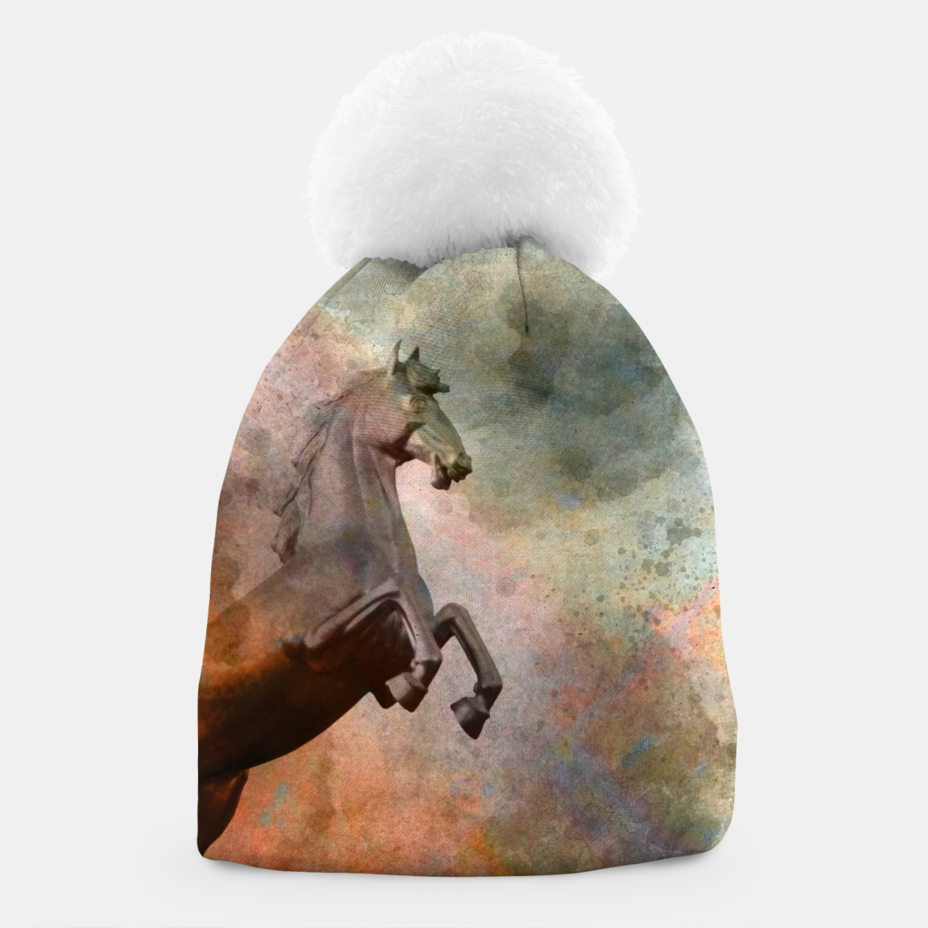 Image of the golden horse Beanie - Live Heroes
